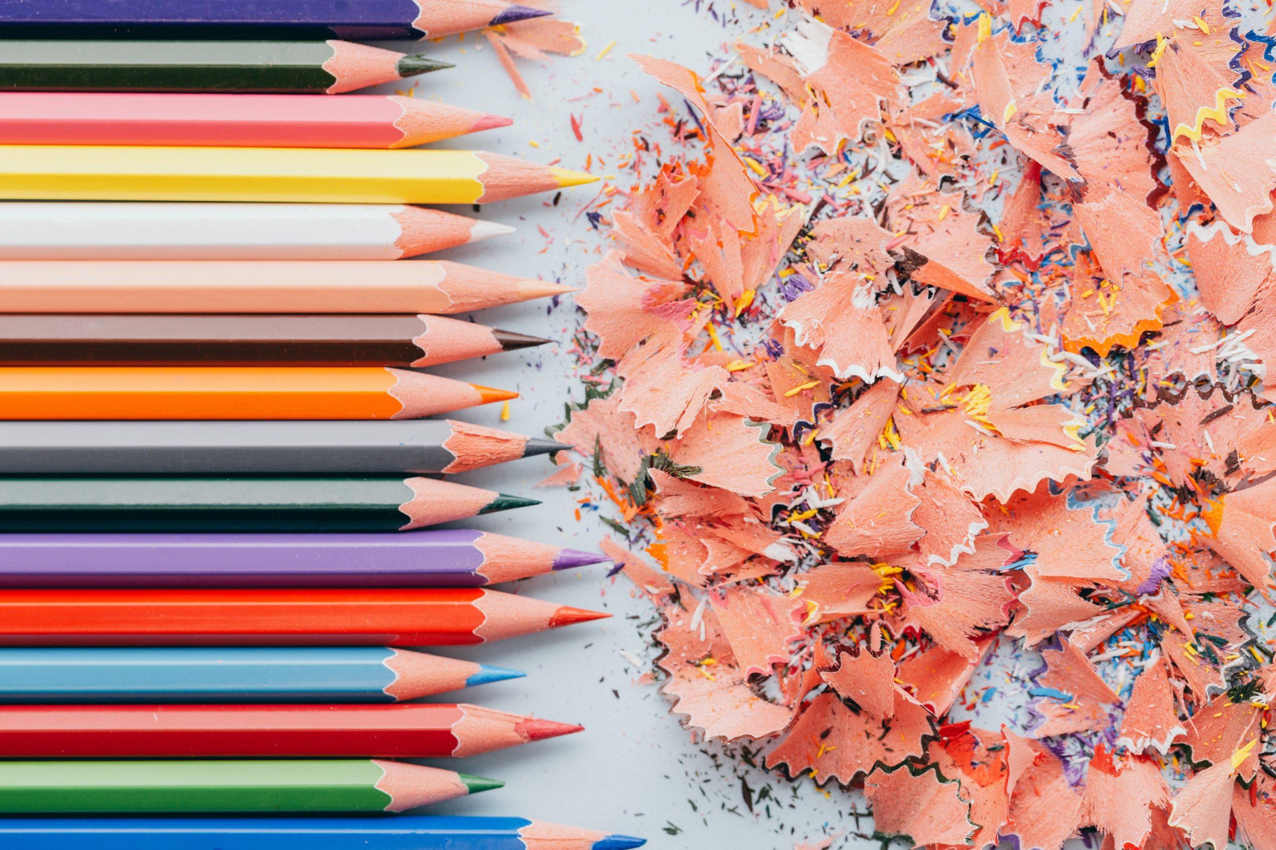 Crayons trousse rentrée scolaire