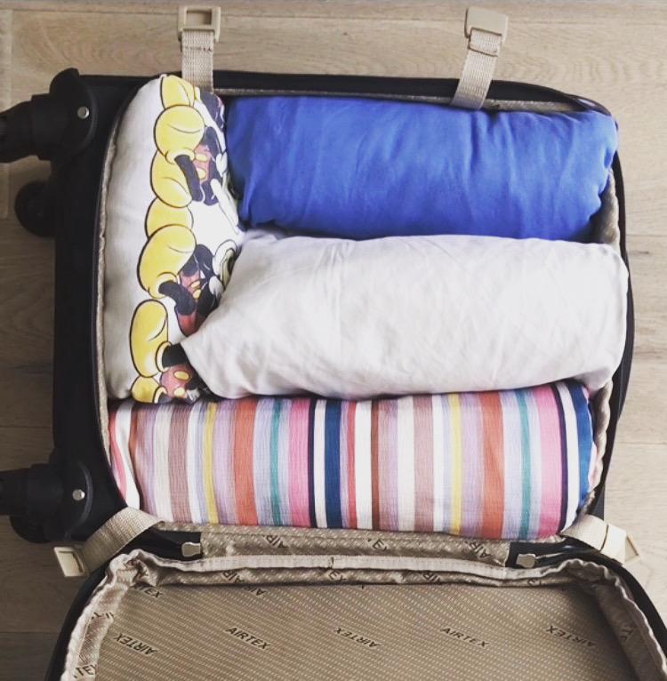 valise organisée konmari